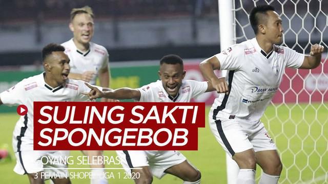 Berita video pemain-pemain di Shopee Liga 1 2020 yang telah menunjukkan selebrasi gol dengan goyang TikTok berlagu Suling Sakti Spongebob. Siapa saja mereka?