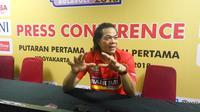 Pelatih Bandung Bank BJB Pakuan, Teddy Hidayat, mengakui keunggulan Jakarta Pertamina Energi pada putaran pertama Proliga 2019. (Liputan6.com/Switzy Sabandar)
