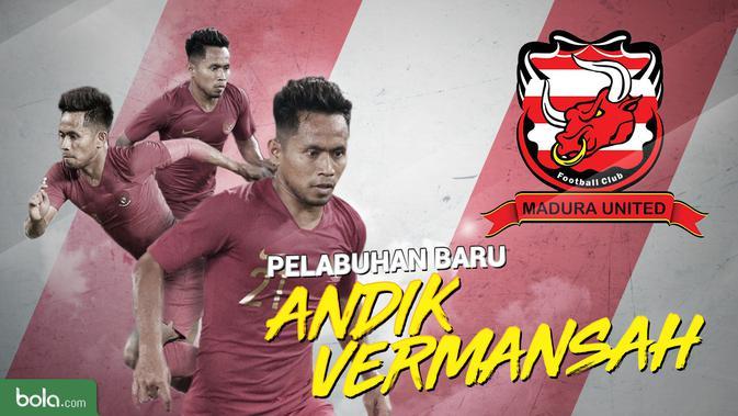 Madura United menjadi pelabuhan baru bagi Andik Vermansah. (Bola.com/Dody Iryawan)
