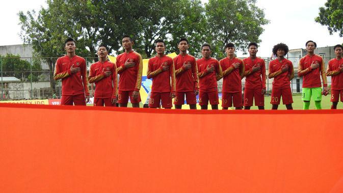 Timnas Indonesia U-18 jelang pertandingan di penyisihan Grup A Piala AFF U-18 2019. (Bola.com/Dok. AFF)