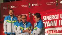 Tim Indonesia Dapat Jaminan dari BPJS Ketenagakerjaan di Asian Games 2018. (Muhammad Adi Yaksa / Liputan6.com).