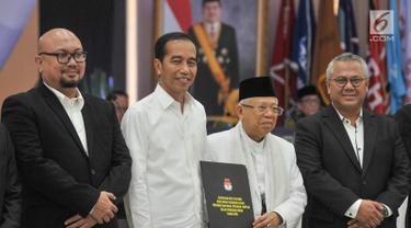 KPU Tetapkan Jokowi-Ma'ruf Amin Sebagai Presiden dan Wakil Presiden Terpilih