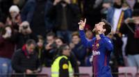 Lionel Messi pemain paling brilian dalam sejarah Barcelona (AFP/Josep Lago)