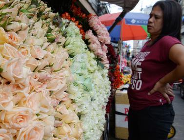 Toko Bunga di Manila Jelang Valentine