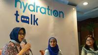 """Acara Hydration Talk """"Mengenal Jenis dan Manfaat Air Minum dalam Kemasan di Indonesia"""" yang digelar di Surabaya, Jawa Timur. (Foto: Liputan6.com/Dian Kurniawan)"""