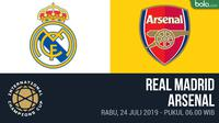 ICC 2019 - Real Madrid Vs Arsenal (Bola.com/Adreanus Titus)