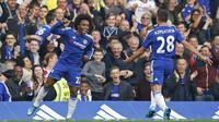 Willian merayakan gol ke gawang Southampton (Reuters)