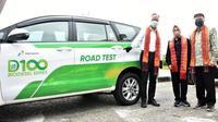 Menperin dan Direktur Utama Pertamina, Nicke Widyawati menjajal ruas jalan Kota Dumai.