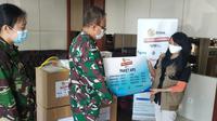 Rumah Sakit Tingkat II Moh Ridwan Meuraksa Menerima Bantuan APD Dari EMTEK Peduli Corona. (Istimewa)