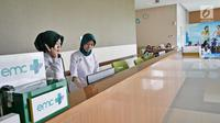 Suasana lobby Rumah Sakit EMC di Sentul City, Jawa Barat, Jumat (20/4). (Liputan6.com/Herman Zakharia)