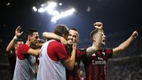 Sudah enam laga di semua kompetisi musim 2017/2018 dilewati AC Milan dengan kemenangan beruntun. (Marco BERTORELLO / AFP)