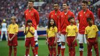 Raina Primeira Gumay, player escort asal Indonesia di Piala Dunia 2018. (Bola.com/Dok. McDonald's)