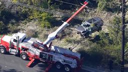 Insiden ini terjadi di perbatasan Rolling Hills Estates dengan Rancho Palos Verdes, sekitar 32,1 kilometer dari pusat kota Los Angeles. (Foto: AP/Mark J. Terrill)