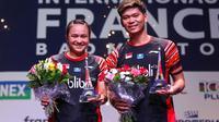 Ganda campuran Indonesia, Praveen Jordan/Melati Daeva Oktavianti, menjuarai Prancis Terbuka 2019, Minggu (27/10/2019). (PBSI)