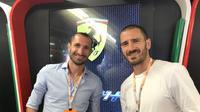 Kapten Juventus dan AC Milan tonton F1. (doc. Ferrari)