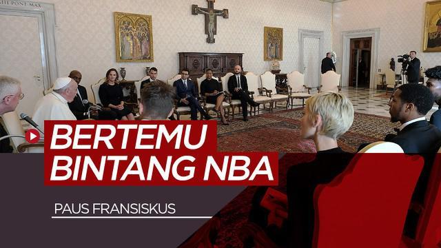 Berita video Paus Fransiskus mengundang beberapa bintang NBA. Apa yang mereka bahas?