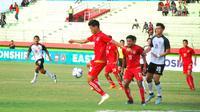 Duel Thailand U-19 Vs Myanmar U-19 pada semifinal Piala AFF U-19 2018, Kamis (12/7/2018) di Stadion Gelora Delta, Sidoarjo. (Bola.com/Zaidan Nazarul)