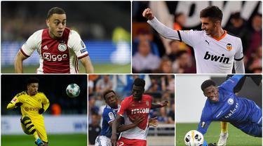 Bermain dalam skuat utama klub adalah pencapaian bagi para pemain muda. Dengan tampil bersama skuat utama, mereka bisa menambah pengalaman serta mencuri perhatian dengan penampilan apik mereka. Berikut 10 wonderkid dengan menit terbanyak bermain di Eropa.(kolase foto AFP)