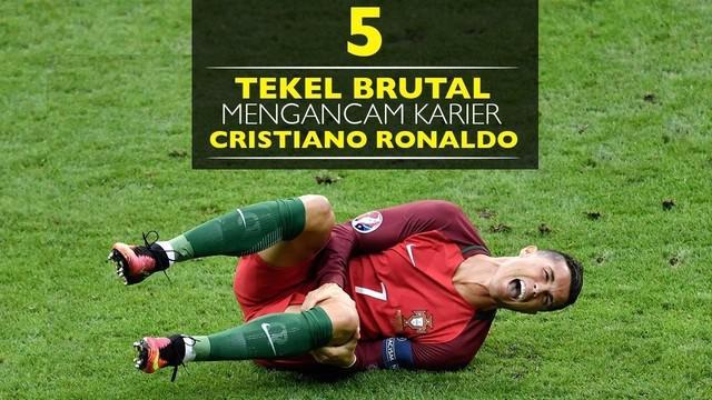 Video 5 tekel berbahaya yang mengancam karier Cristiano Ronaldo, salah satunya saat tekel Dimitri Payet ke Ronaldo diFinal Piala Eropa 2016.