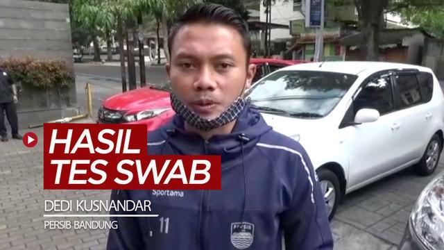 Berita video komentar gelandang Persib Bandung, Dedi Kusnandar, soal hasil tes swab COVID-19 yang telah keluar.