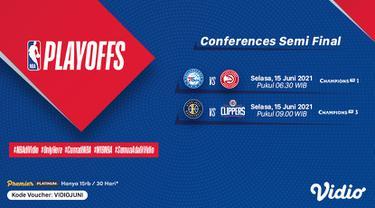 Live Streaming NBA 2021 Play Off Semi Final Conferences di Vidio, Selasa 15 Juni