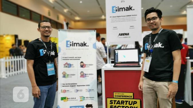 Startup lokal Simak di Tech in Asia 2019 Regional Conference. Liputan6.com/Mochamad Wahyu Hidayat