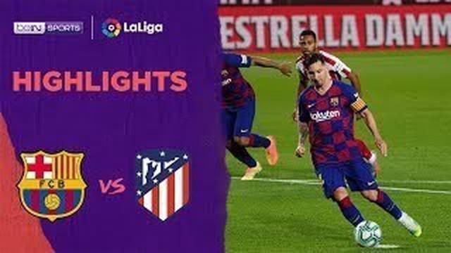 Berita Video Highlights La Liga, Barcelona Ditahan Atletico Madrid 2-2