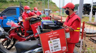 Pertamina Regional Jawa Bagian Tengah membentuk Satuan Tugas Natal dan Tahun Baru terhitung 7 Desember 2020 hingga 10 Januari 2021. (Dok Pertamina)