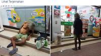 Potret pemulung tunawisma dan uang tabungan yang ia donasikan (Dok.Facebook)