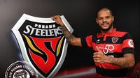 Bomber Persebaya Surabaya, David Da Silva resmi bergabung dengan Pohang Steelers. (Dok: Pohang Steelers)