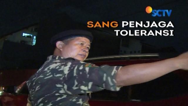 Setiap orang punya cara sendiri wujudkan hidup toleransi. Seperti Bang Roni, anggota Banser yang setia jaga keamanan gereja di Jakarta.