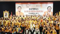 Ketua Umum Partai Hanura Oesman Sapta Odang Saat Membuka Rapimnas I Partai Hanura di Hotel Kartika Chandra, Jakarta Selatan, Rabu (25/9/2019). (Foto: Istimewa)