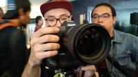 EOS R, kamera mirrorless full frame pertama Canon di Indonesia. Liputan6.com/Agustinus Mario Damar