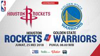 Jadwal NBA, Houston Rockets Vs Golden State Warriors. (Bola.com/Dody Iryawan)