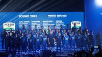 Skuat Persib Bandung musim 2020 diperkenalkan di Harris Festival Citylink, Selasa (25/2/2020). (Liputan6.com/Huyogo Simbolon)