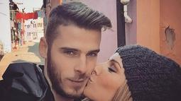Hubungan antara Edurne Garcia Almagro dengan David De Gea sudah terjalin sejak tahun 2010 lalu, ketika sang kiper masih membela Atletico Madrid. (Instagram)