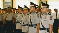 Kedua pejabat baru itu diperintahkan Kapolda segera menyesuaikan diri dan memberantas kriminal di Riau. (Liputan6.com/M Syukur).