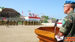 Citizen6, Haiti: Sekitar 167 Prajurit TNI yang tergabung dalam Satgas Kontingen Garuda XXXII-A/MINUSTAH di bawah pimpinan Letkol Czi Winarno (Akmil 1993) menerima penghargaan medali PBB pada, Senin (3/9). (Pengirim: Badarudin Bakri)