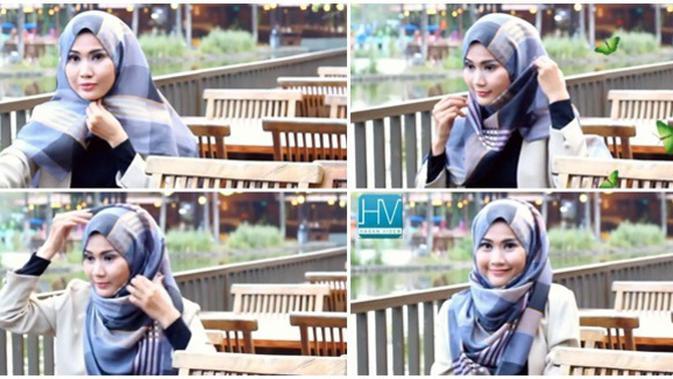 Video Tutorial Hijab Segi Empat Simple Praktis Dan Menutup Dada Beauty Fimela Com