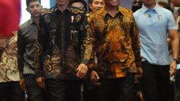 Presiden Joko Widodo (Jokowi) didampingi Ketua KPK Agus Rahardjo menghadiri Peringatan Hari Anti Korupsi Sedunia 2018 di Jakarta, Selasa (4/12). Acara ini mengambil tema Menuju Indonesia Bebas Dari Korupsi. (Liputan6.com/Angga Yuniar)