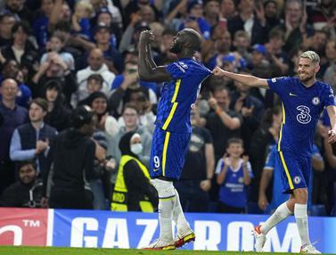 FOTO: Gol Tunggal Romelu Lukaku Bawa Chelsea Taklukkan Zenit di Liga Champions