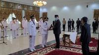 Gubernur Sumbar, Mahyeldi melantik 11 kepala daerah di Sumbar. (Liputan6.com/ ist)