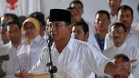 Prabowo Subianto terpilih sebagai Ketua Umum Partai Gerindra dalam KLB di Bogor, Jawa Barat, menggantikan almarhum Suhardi