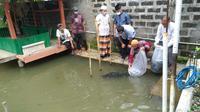 Dorong program petani milenial KRM, Mabes Polri salurkan ribuan benih ikan. (Istimewa)