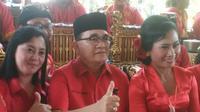 Politikus Ruhut Sitompul di Kongres V PDIP, Bali, Kamis (8/8/2019). (Liputan6.com/ Putu Merta Surya Putra)