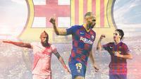 Barcelona FC - Martin Braithwaite, Zlatan Ibrahimovic, Arturo Vidal (Bola.com/Adreanus Titus)