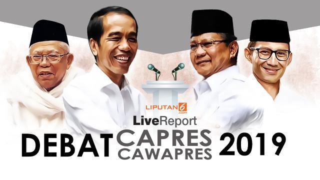 Live Report Debat Capres Cawapres 2019. (LIputan6.com/Abdillah)