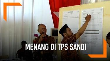 Pada TPS tempat Sandiaga Uno mencoblos, Jokowi-Ma'ruf memperoleh angka 133 suara. Sementara, pasangan nomor urut 2 mendapatkan angka 076 suara.