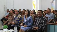 Para petinggi Pemkot Bitung menghadiri acara di Gereja GMIM Tasik Wangurer.