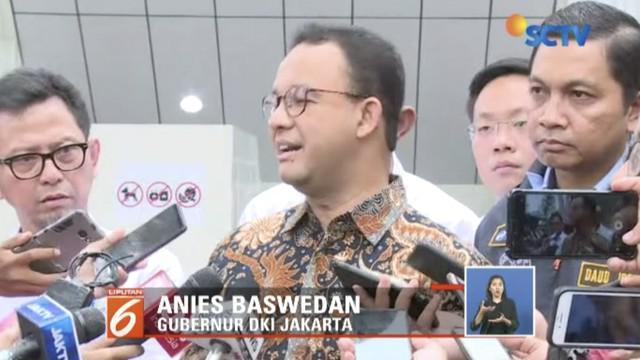 Gubernur DKI Jakarta Anies Baswedan meresmikan kawasan transit terpadu Dukuh Atas.